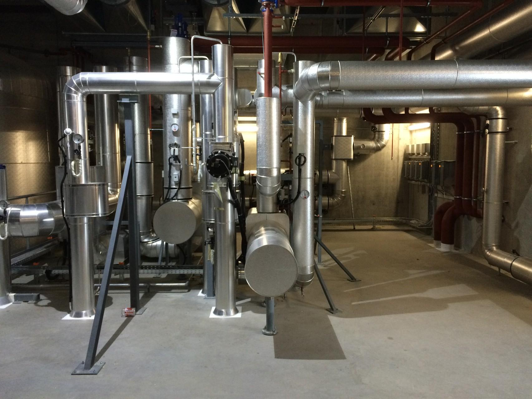 Not-Wärmetauscher Thermoöl/Wasser