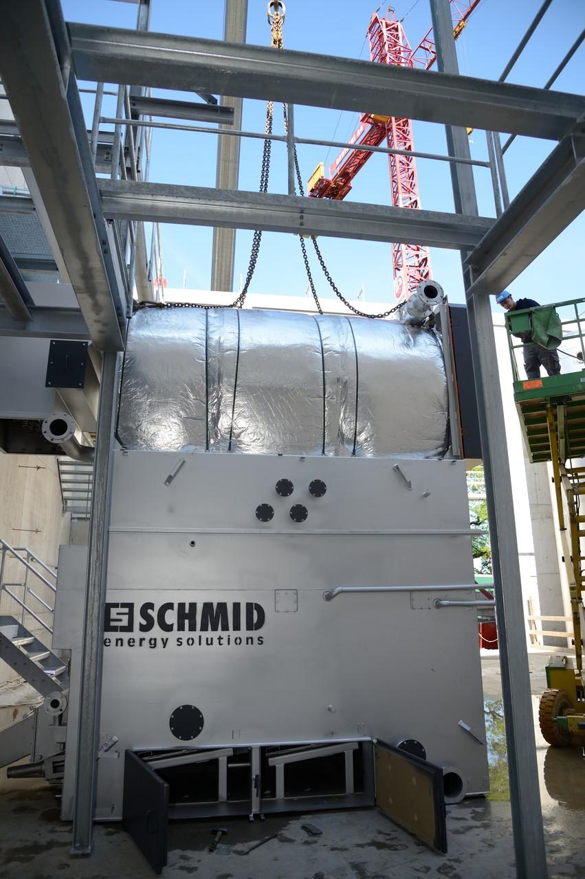 Kompletteinheit Brennkammer und Wärmetauscher Holzschnitzelkessel 1.600 kW