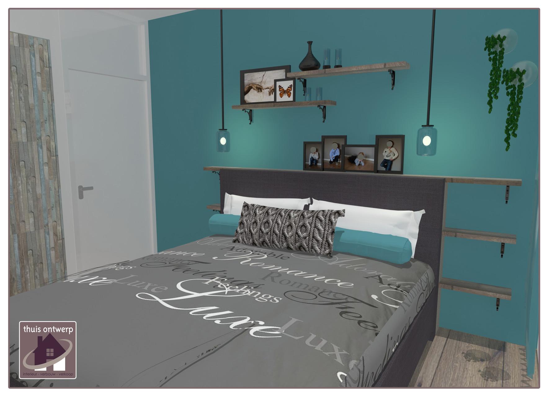 Slaapkamer Ideeen Turquoise : Visualisatie interieur en styling advies op maat