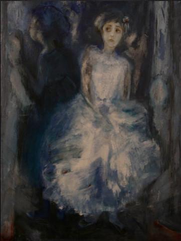 Obra de Liliane Lurcel que exponía en Folcalquier.