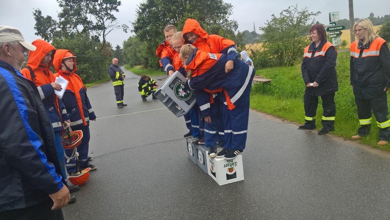JFW Marnitz bei dem Kistenlaufen