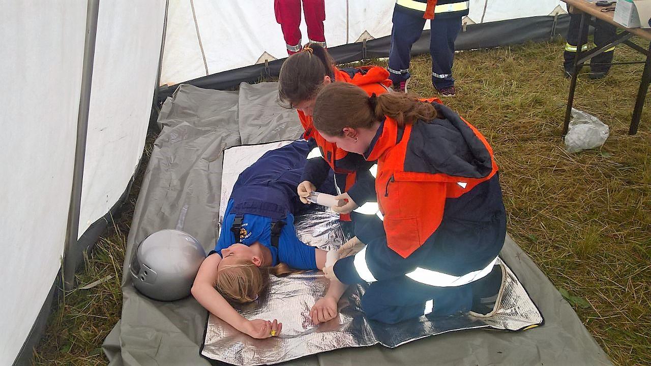 JFW Marnitz bei der Ersten Hilfe