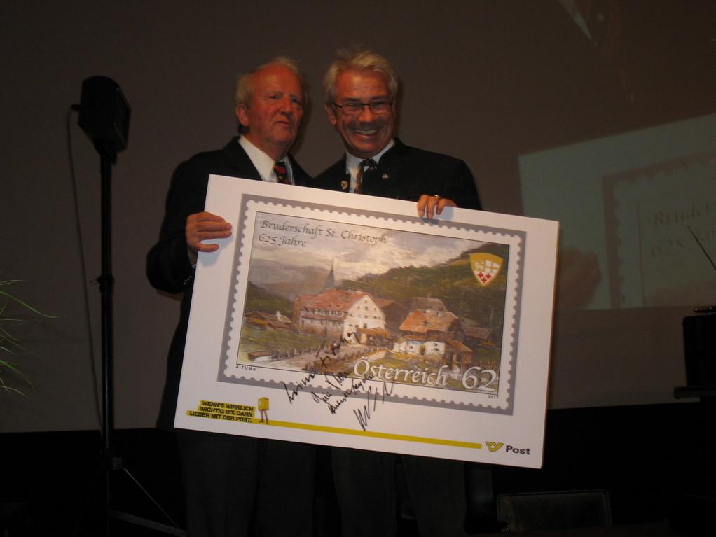 Die Markenübergabe an den Großmeister der Bruderschaft Adi Werner