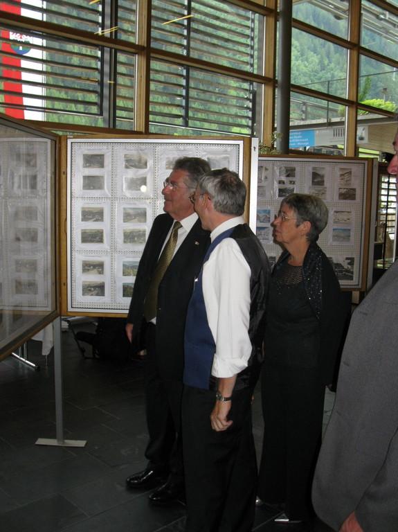Bundespräsident Herr Heinz Fischer mit Gattin bei der Besichtigung der Ausstellung