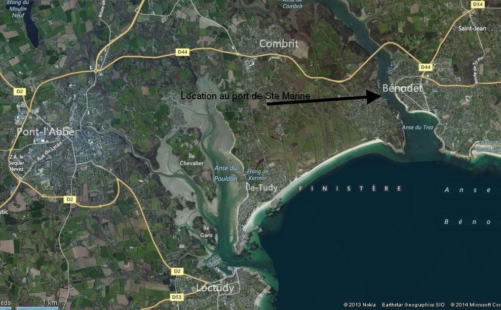 Vue satellite : entre mer et estuaire