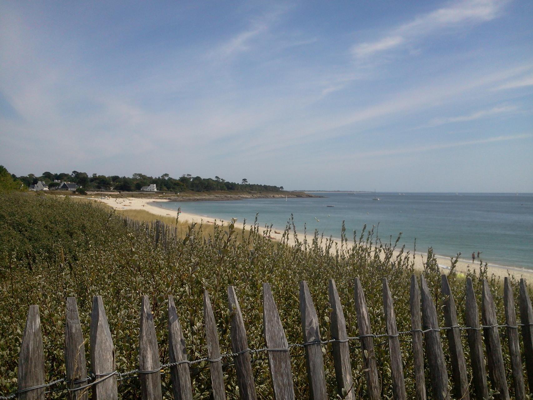 La grande plage et lapointe de Ste Marine