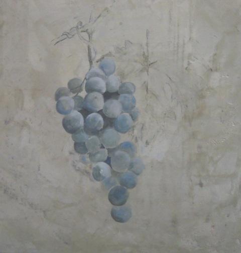 """Fresque """"à secco"""": peinture à l'œuf(Tempera) sur fond à la chaux ferrée."""