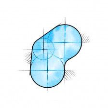 Nierenförmig