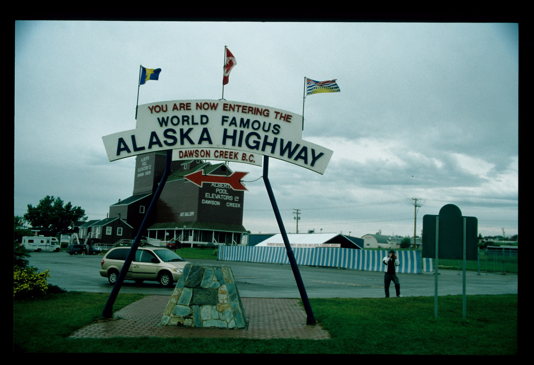 Dawson Creek - Beginn des Alaska Highways