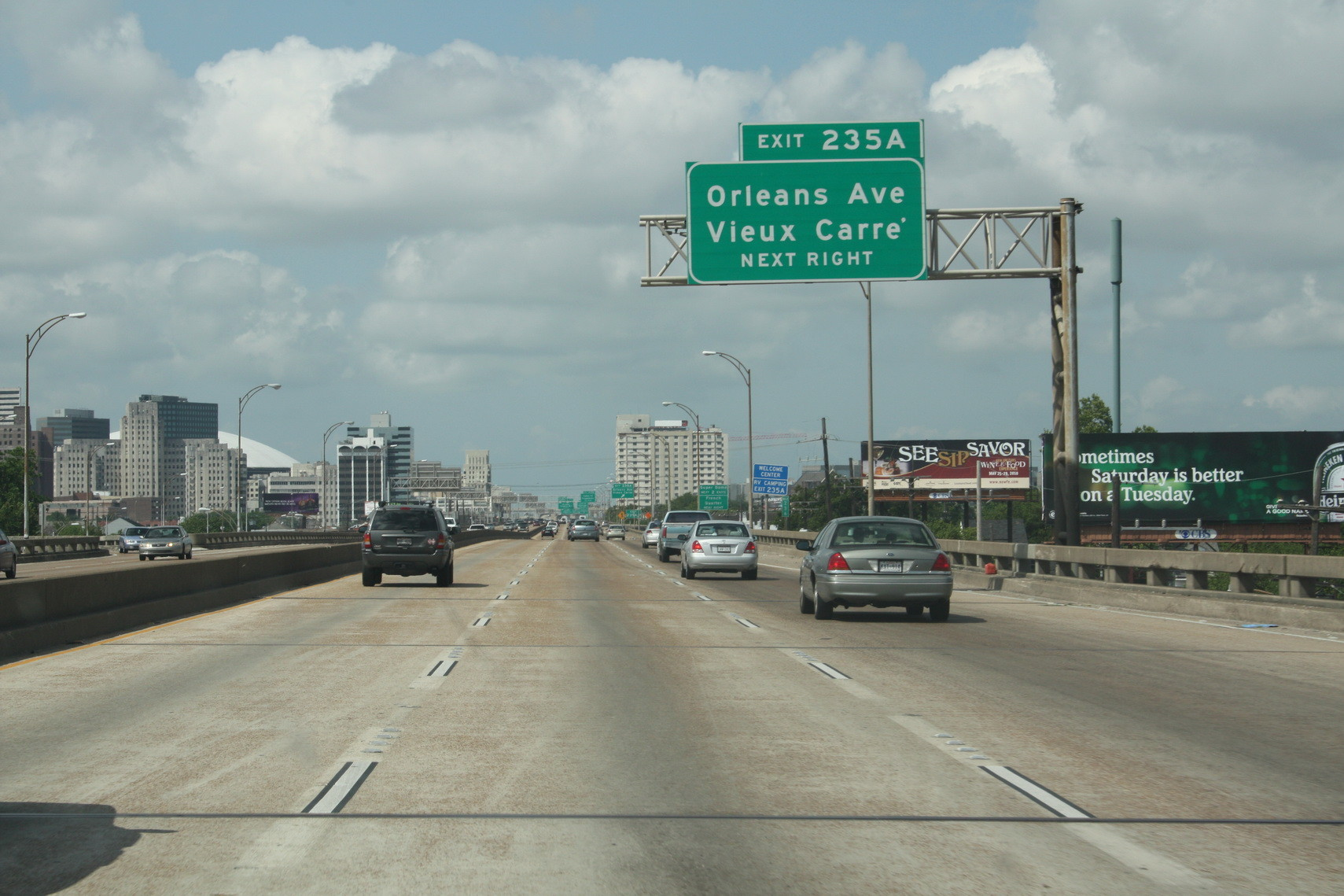 Highway nach New Orleans