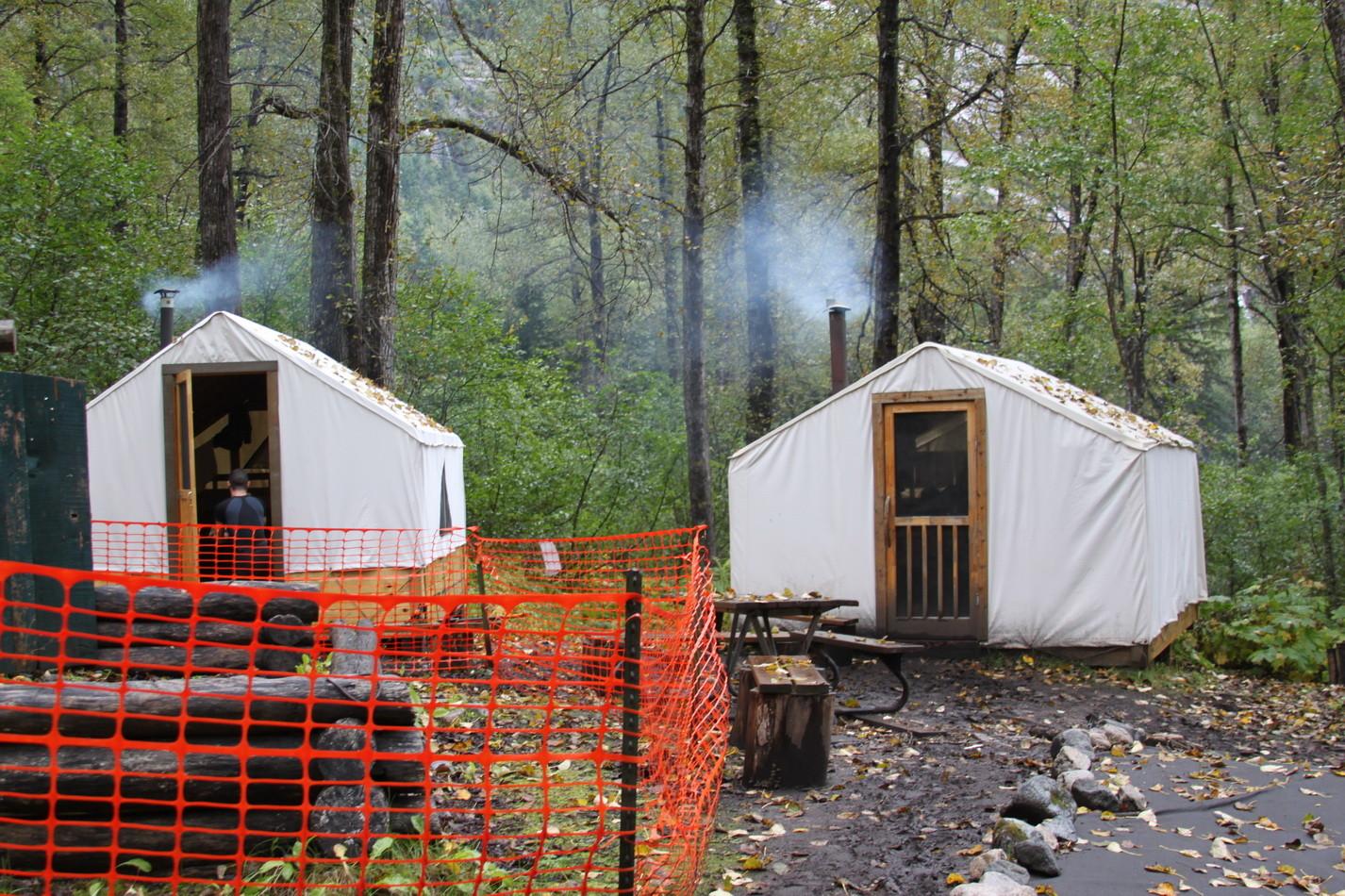 Lager auf dem Chilkoot Trail