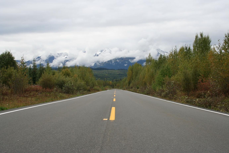 Auf dem Cassier-Stewart Highway (Highway Nr. 37)