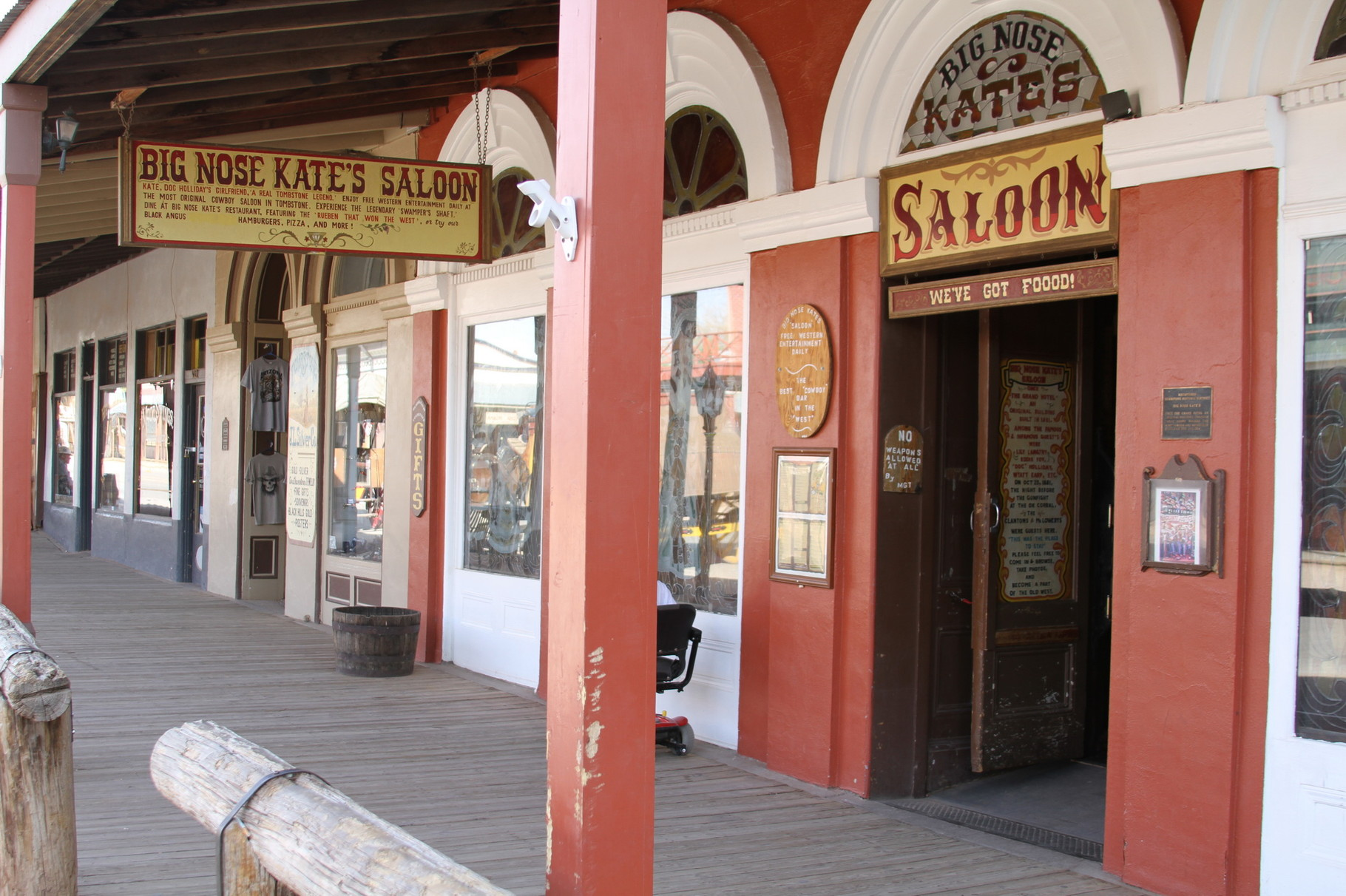 Saloon in Tombstone.