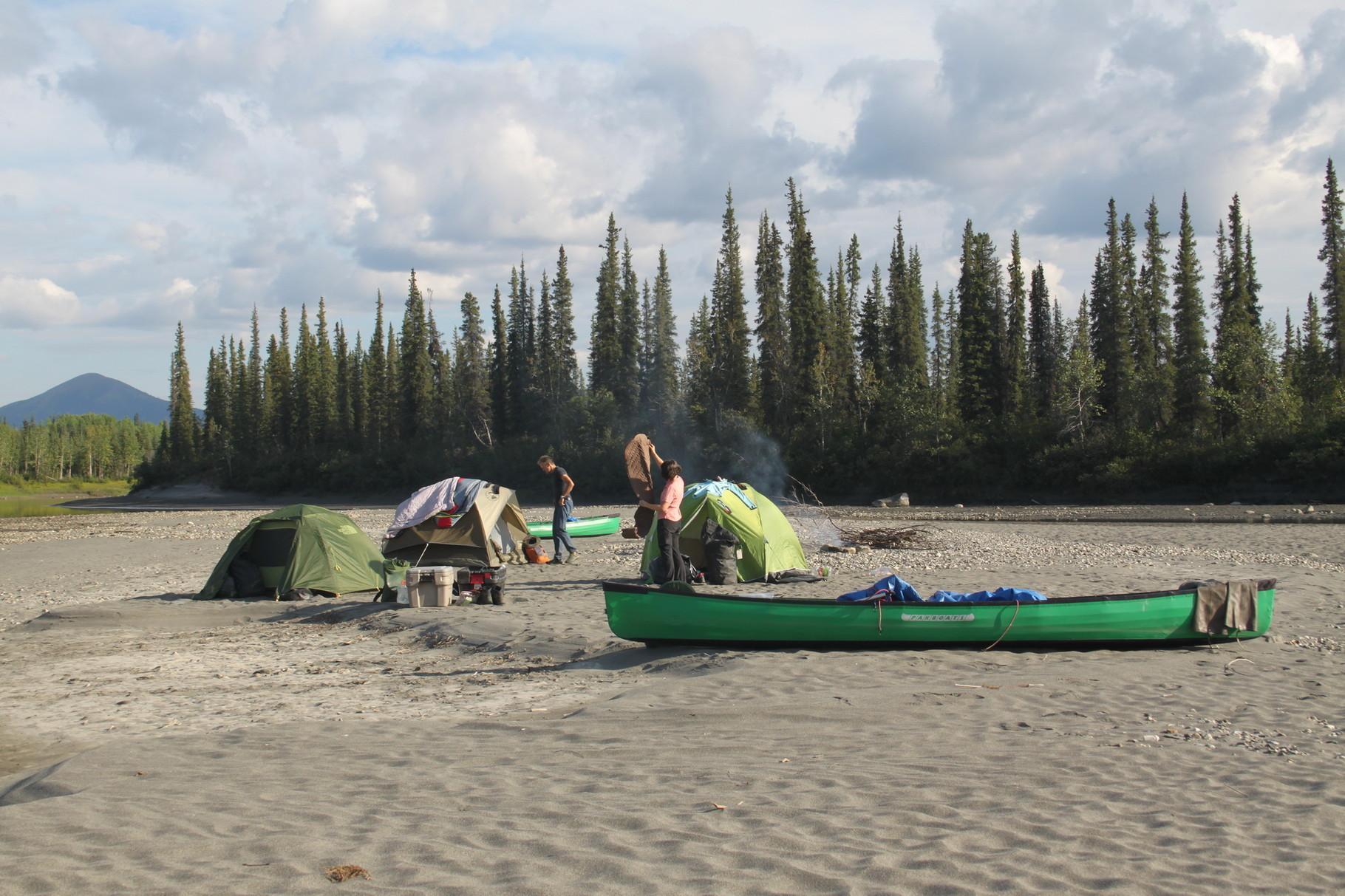 Das Camp muss bärensicher aufgebaut werden.