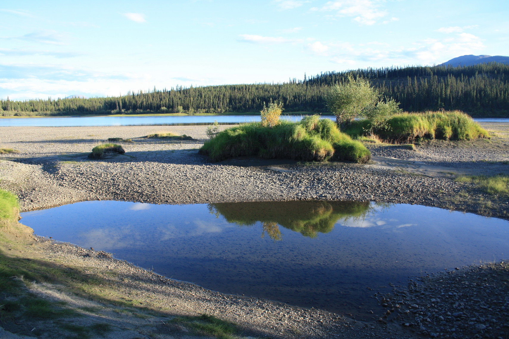 Camp auf einer Sandbank