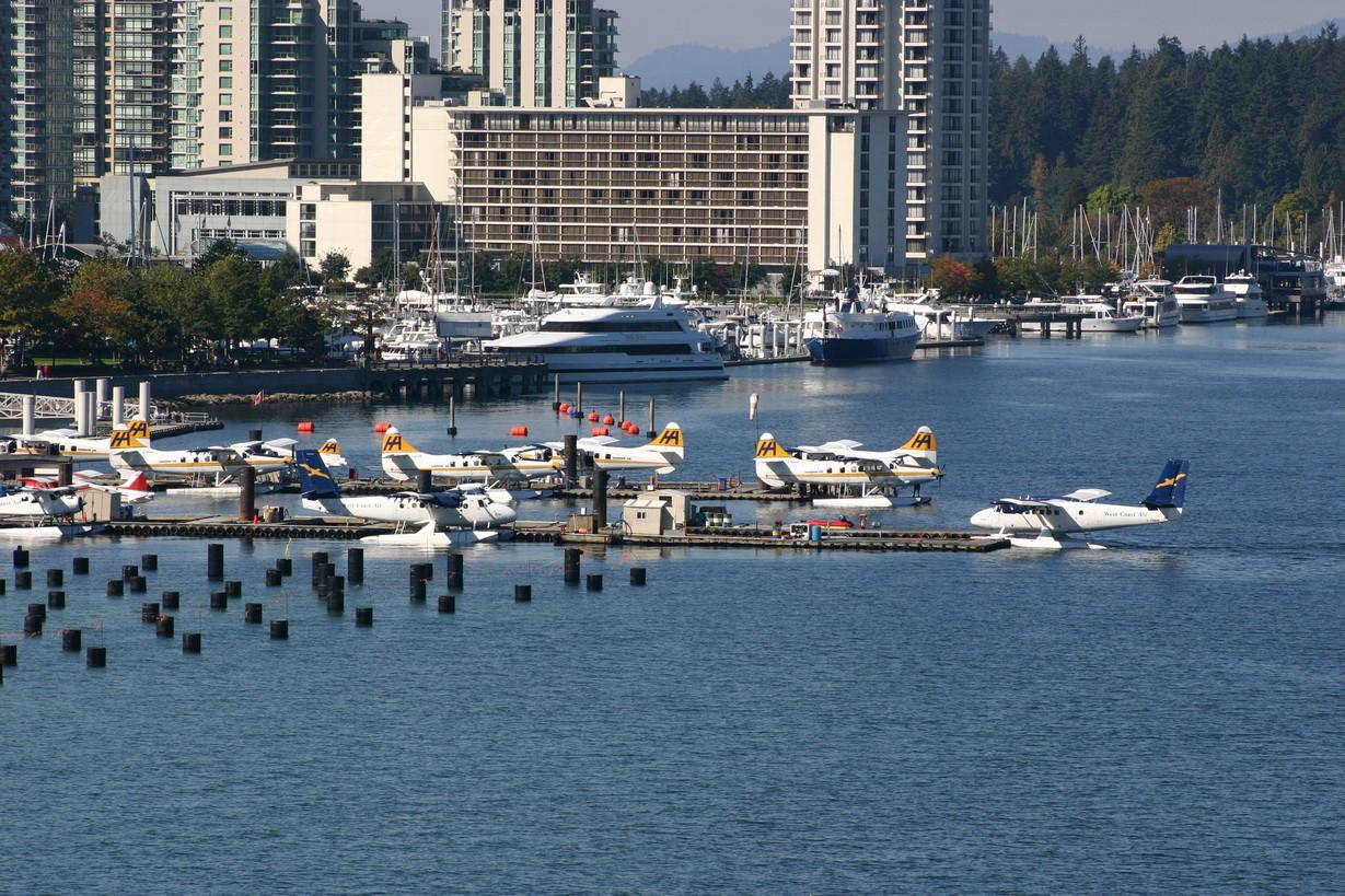Landeplätze direkt vor der Innenstadt Vancouvers