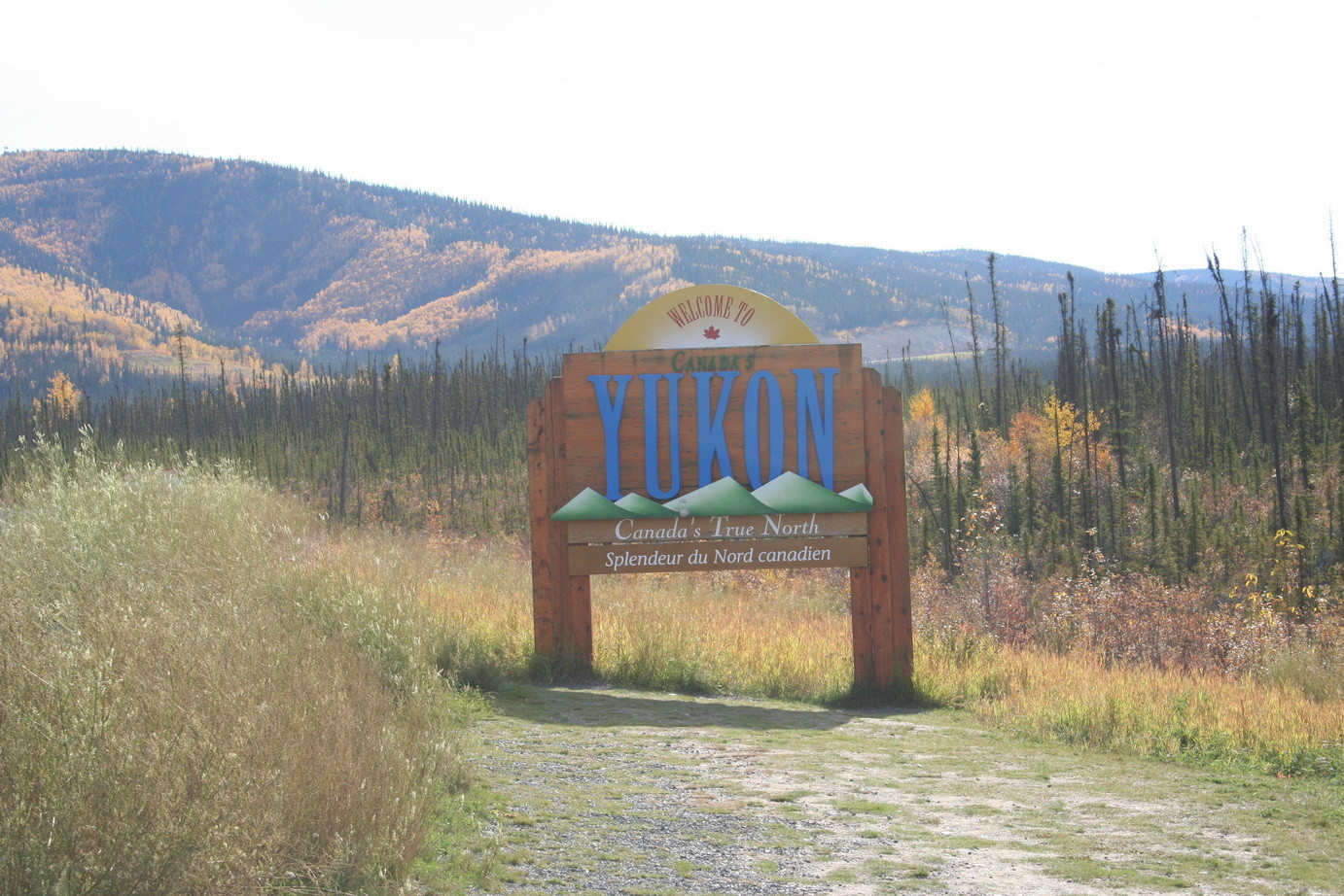 Auf dem Top of the World Highway kurz vor Dawson City