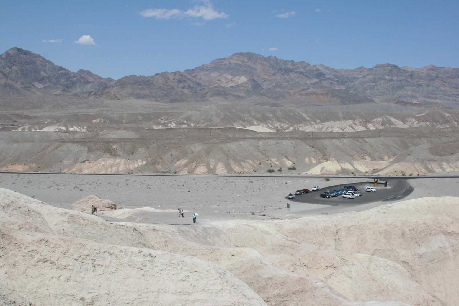 Diese Hügel im Death Valley sind eine Touristenattraktion