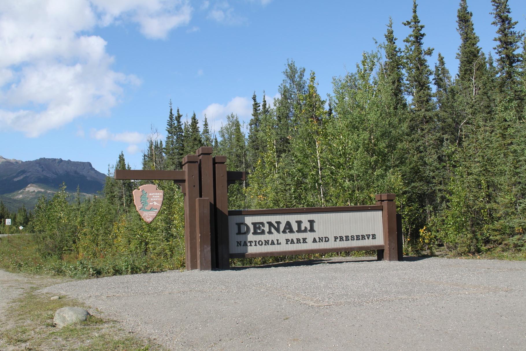 Einfahrt in den Denali Park