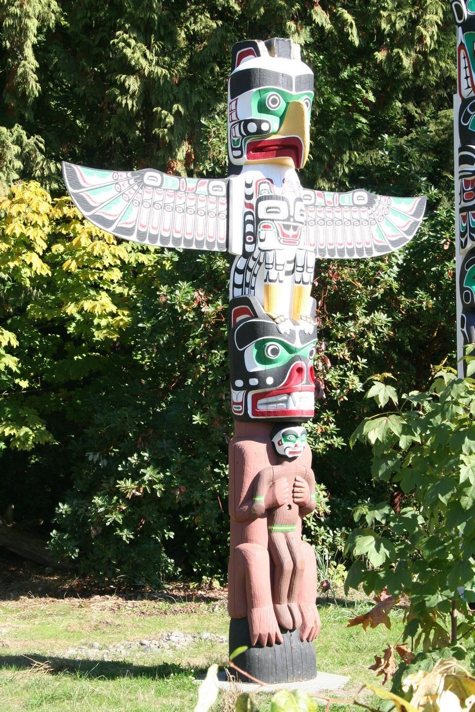 Totempfahl im Stanley Park von Vancouver