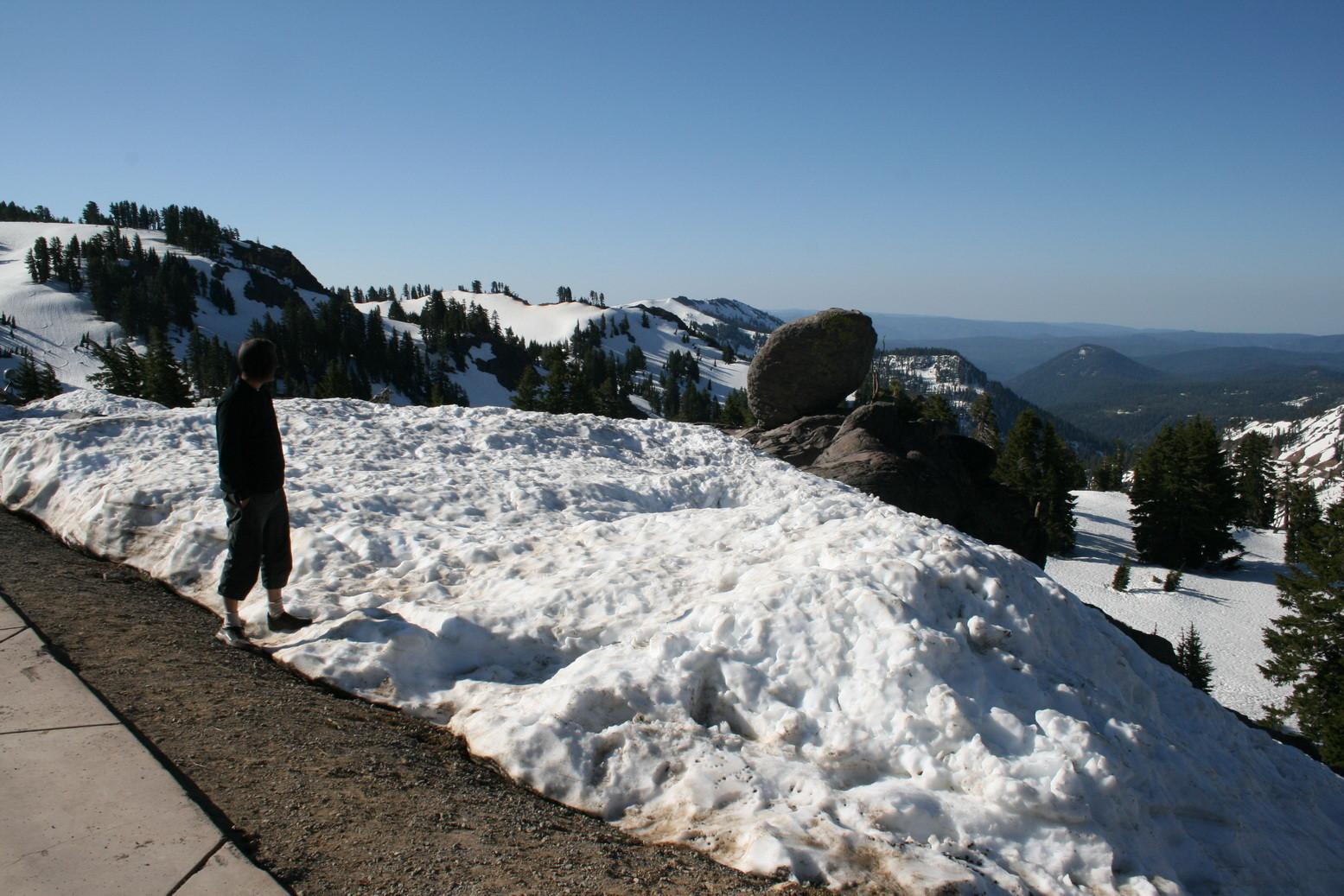 In höheren Lagen liegt noch Schnee