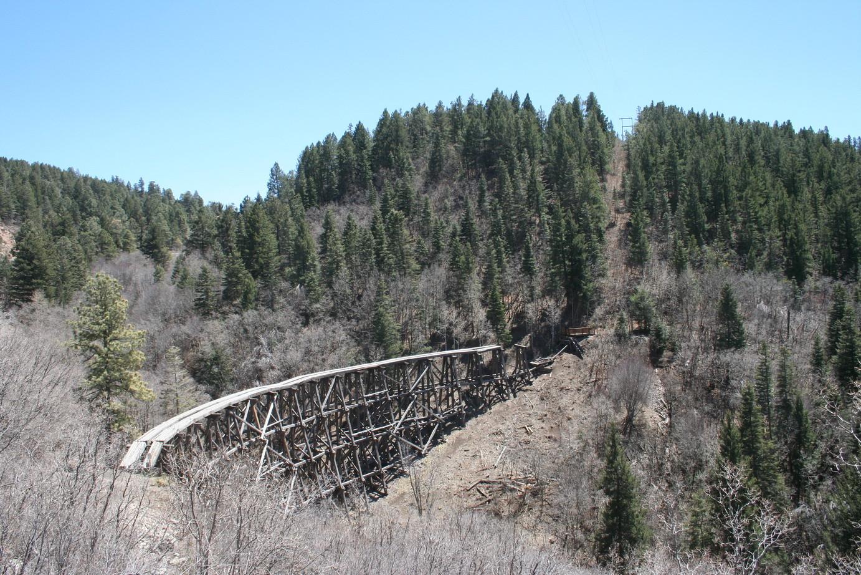 Eisenbahnbrücke in New Mexico