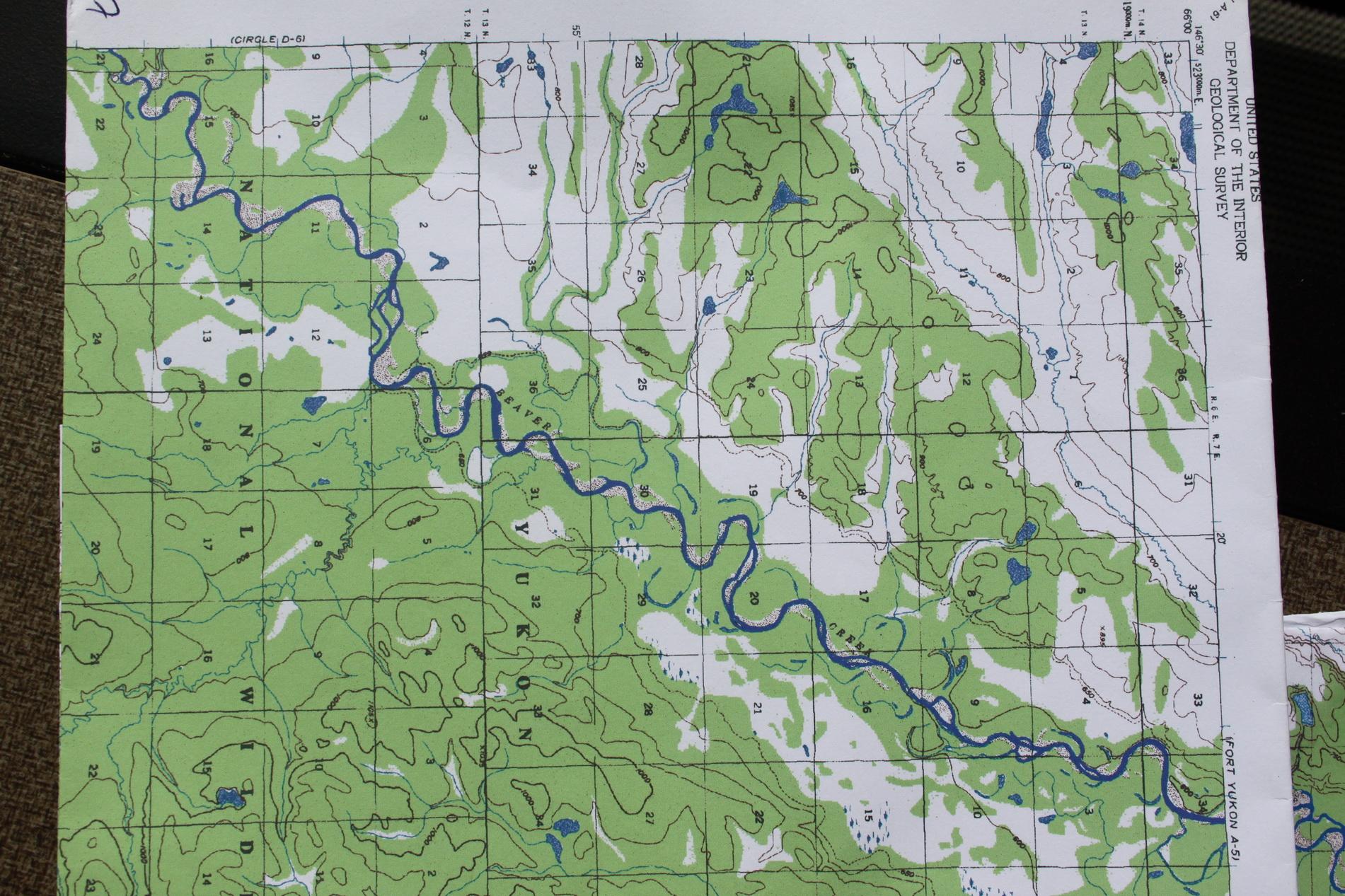 Das ist eine von den Landkarten, die Peter uns für die Tour mitgegeben hat.