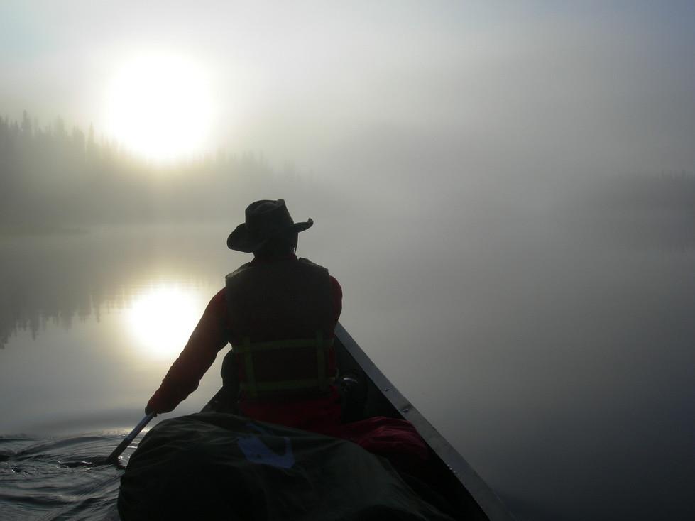 Nebelbank während der Rückfahrt
