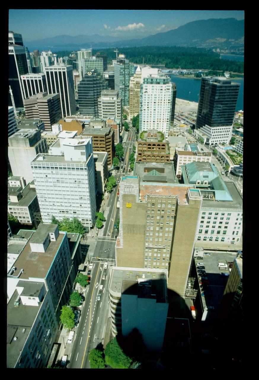 Vancouver Innenstadt von oben