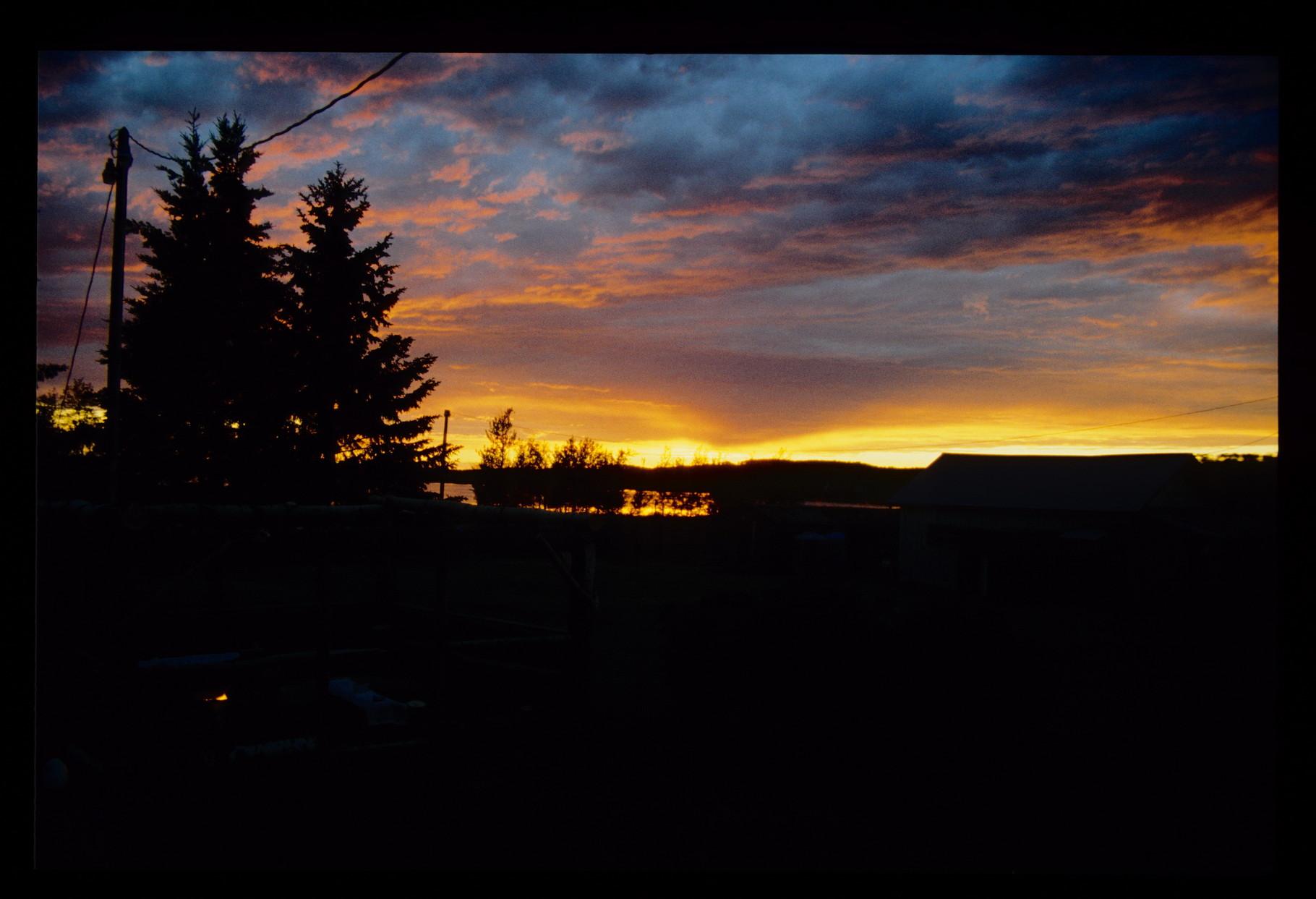 Sonnenuntergang auf der Ranch von Diana und Eckhard