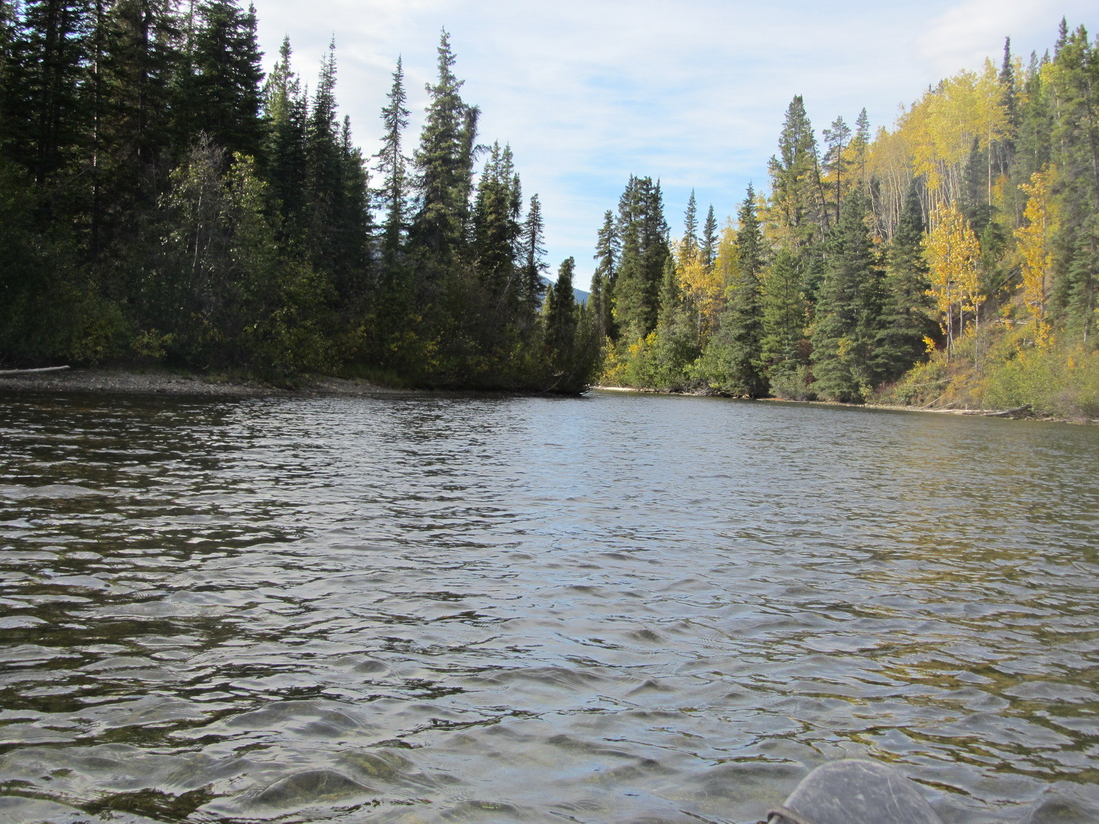 Verbindungsfluss vom Quiet Lake zum Sandy Lake