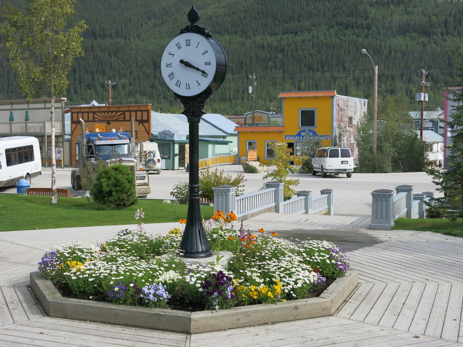 Dawson City ist sehr gepflegt.