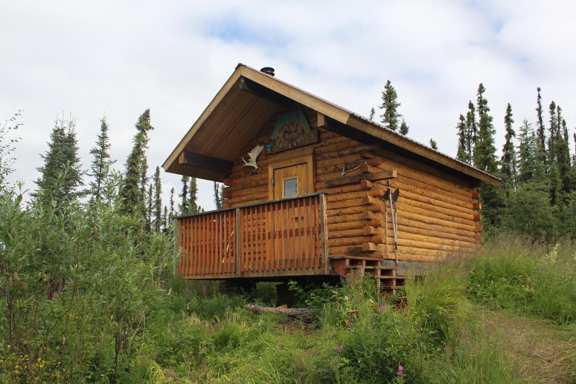 Die Hütte ist leer.