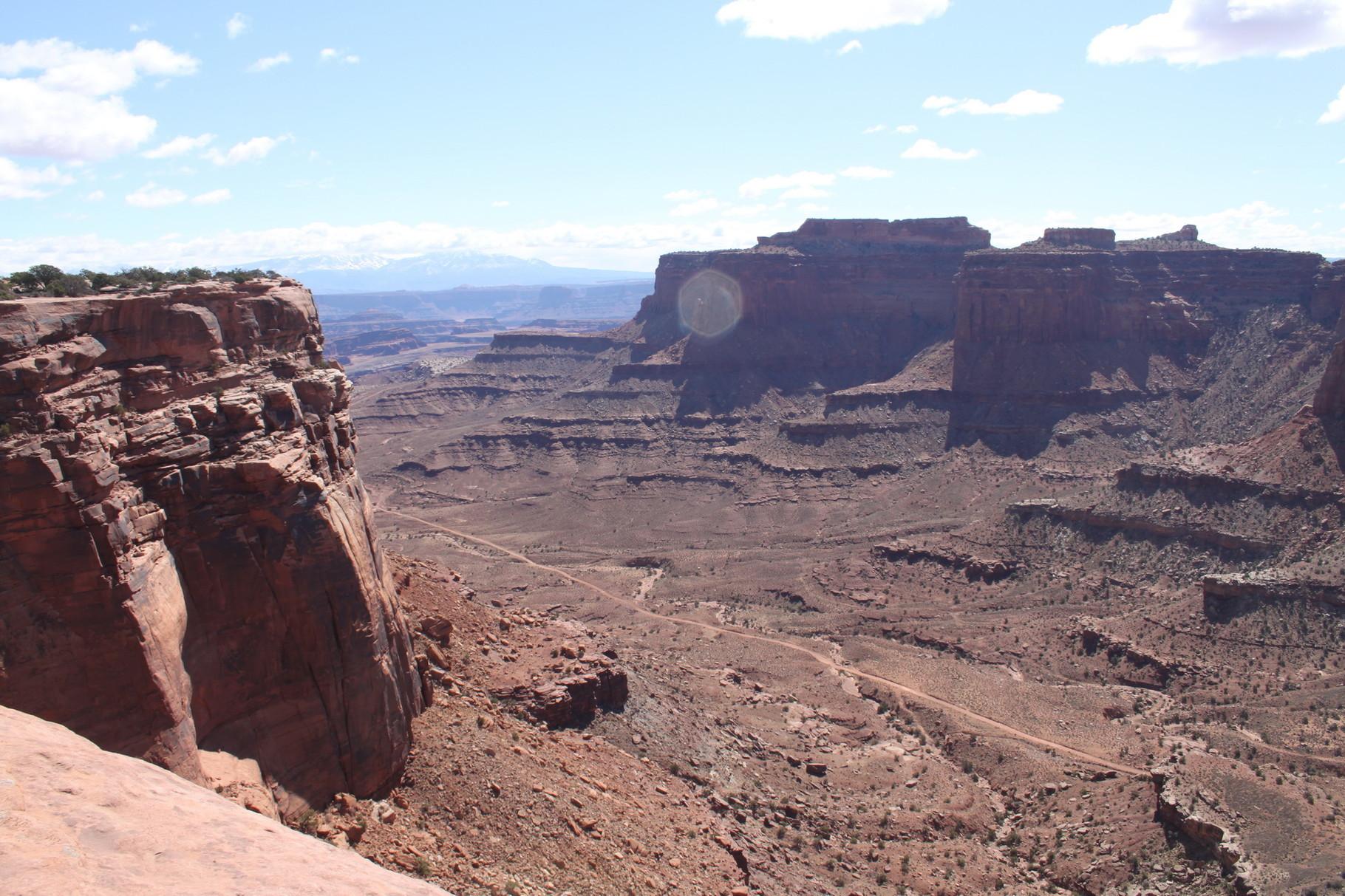 Der Canyonausblick - dort fahre ich gleich hin