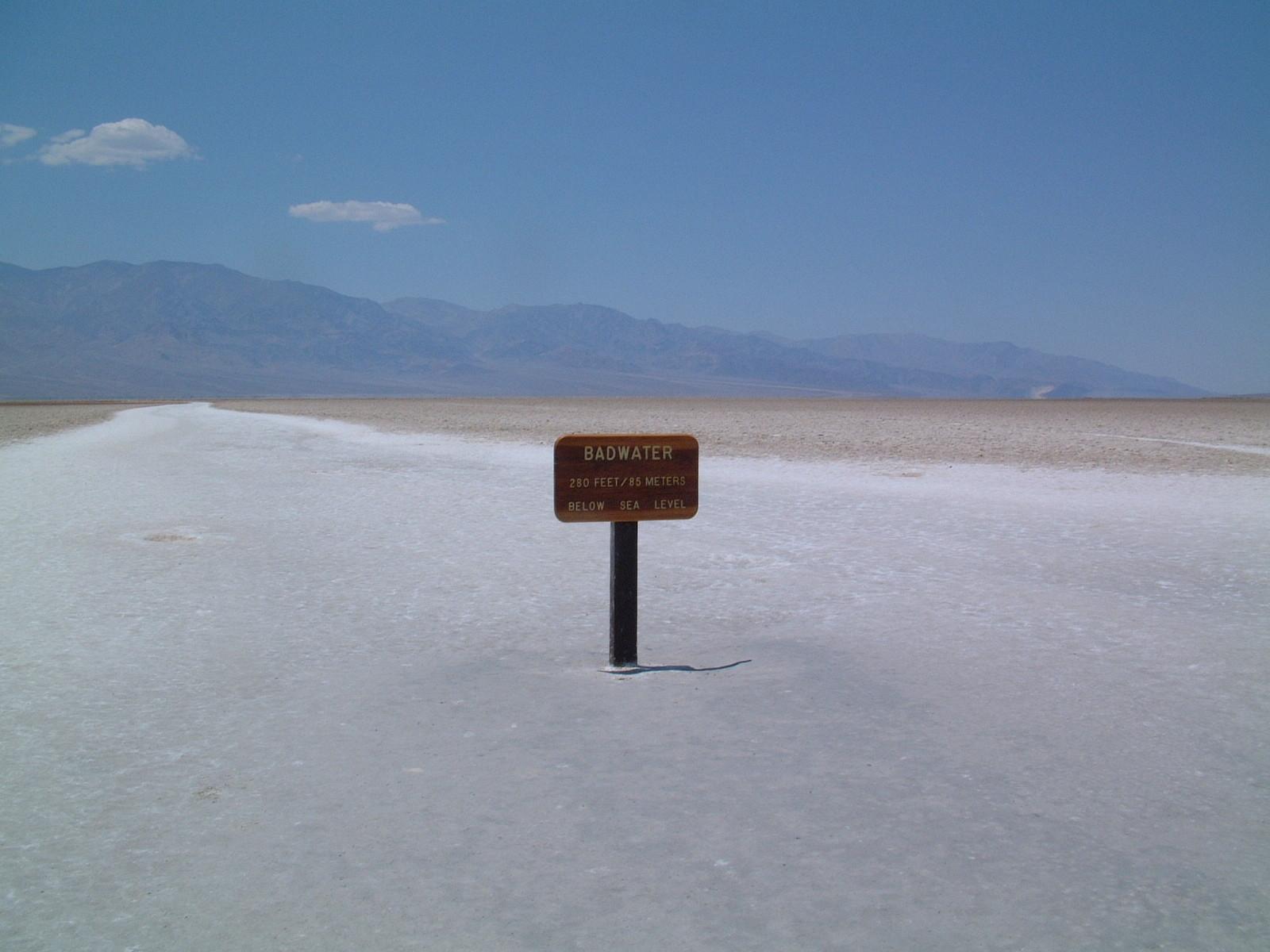 Im Death Valley am tiefsten Punkt der USA