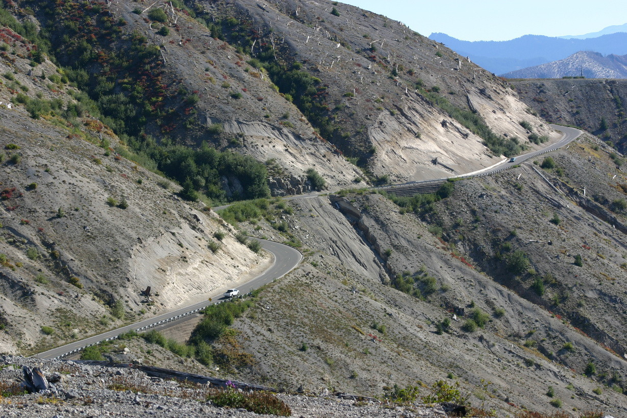 Straße zum Mt. St. Helens