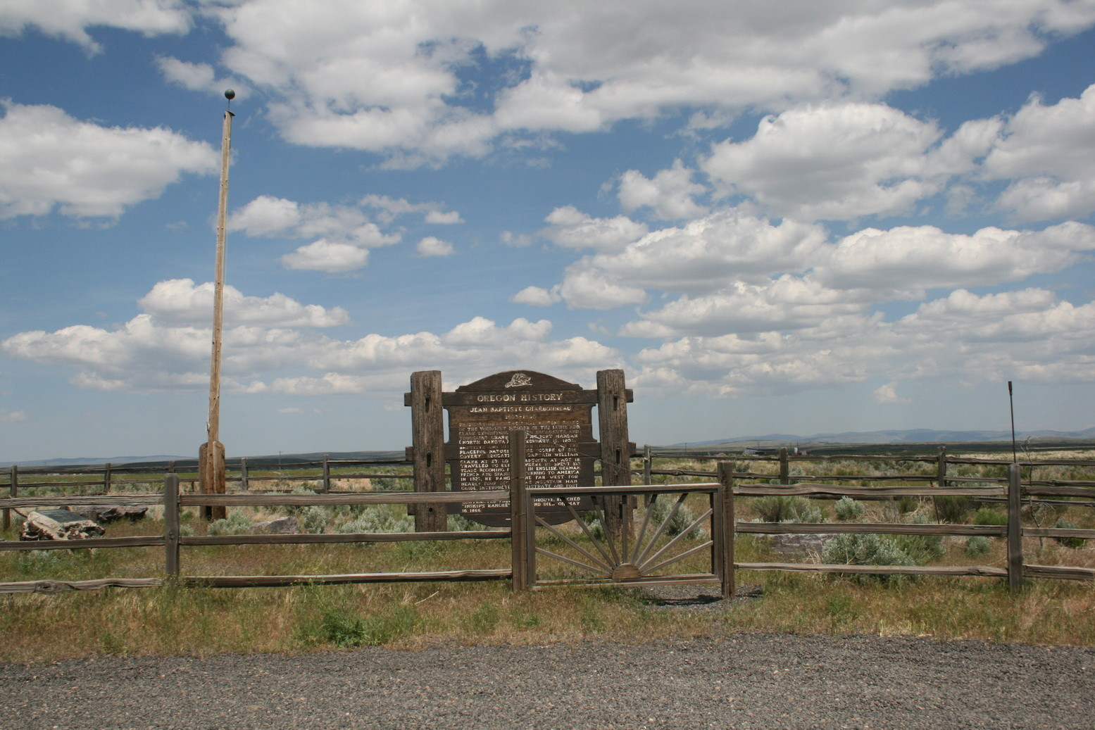 Eine Landmark-Tafel in Oregon