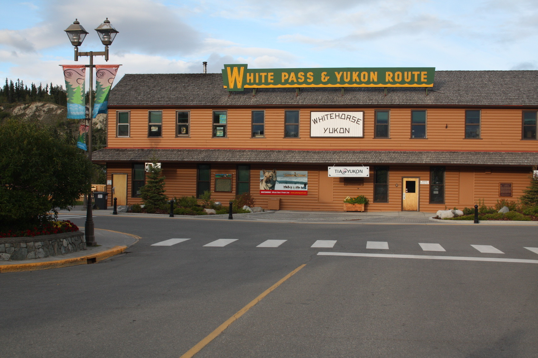 Büro der White Pass Railroad in Whitehorse
