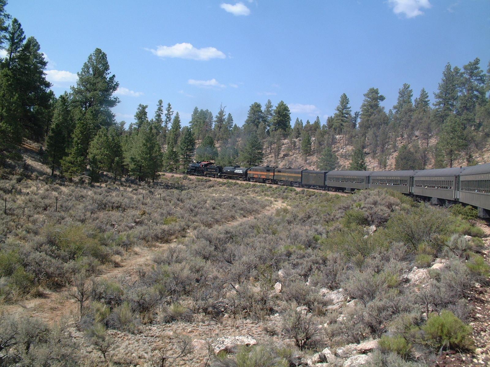 Zugfahrt von Williams zum Grand Canyon_1