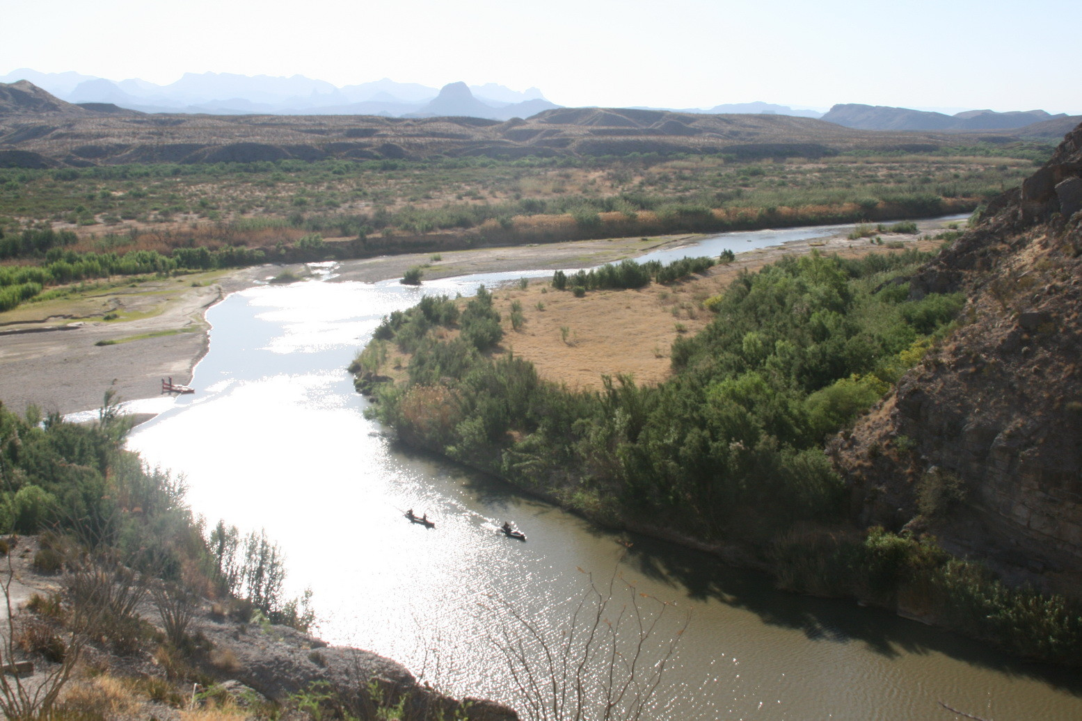 Der Rio Grande (links USA, rechts Mexico)