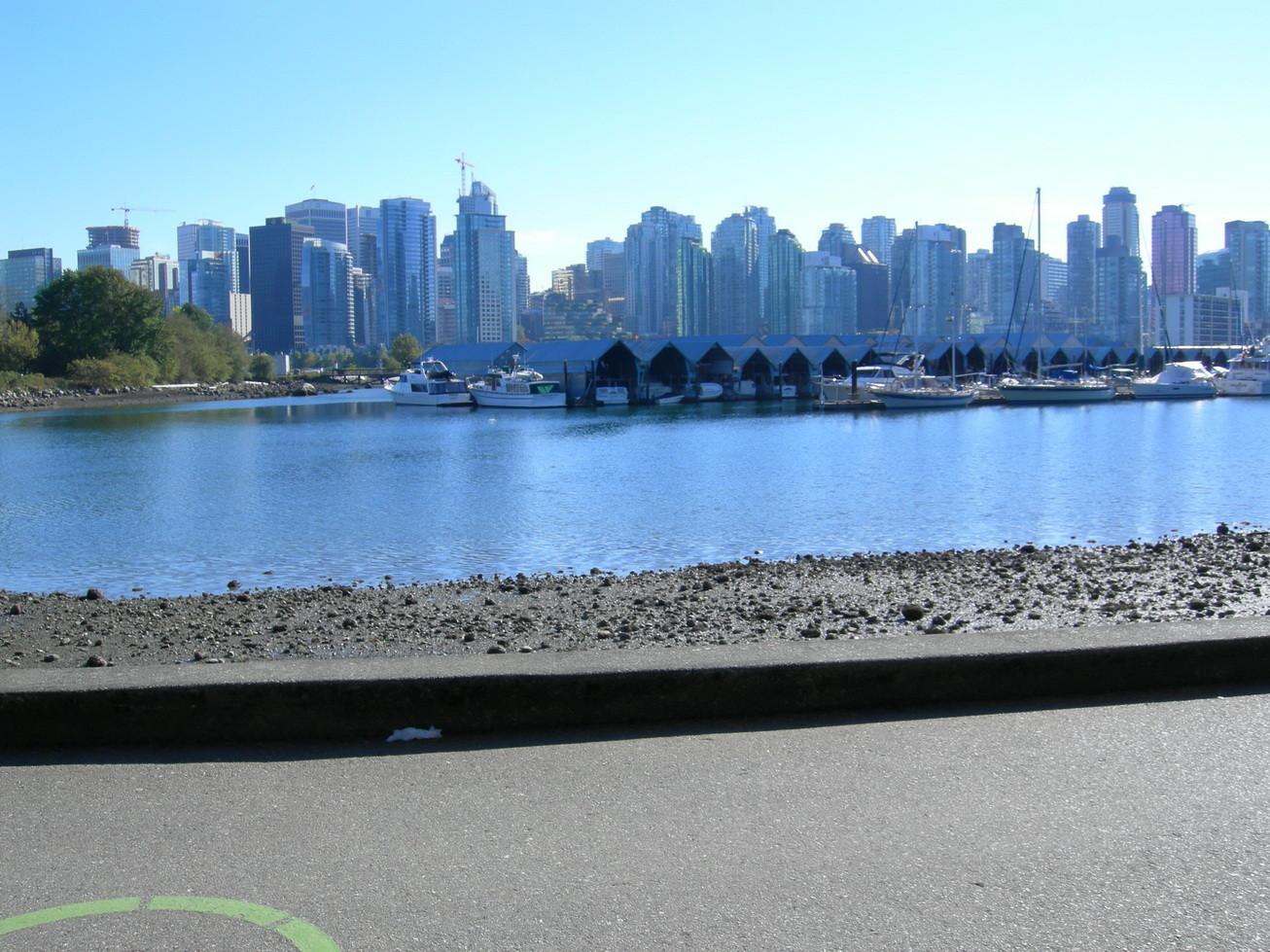 Blick auf Vancouver vom Stanley Park aus