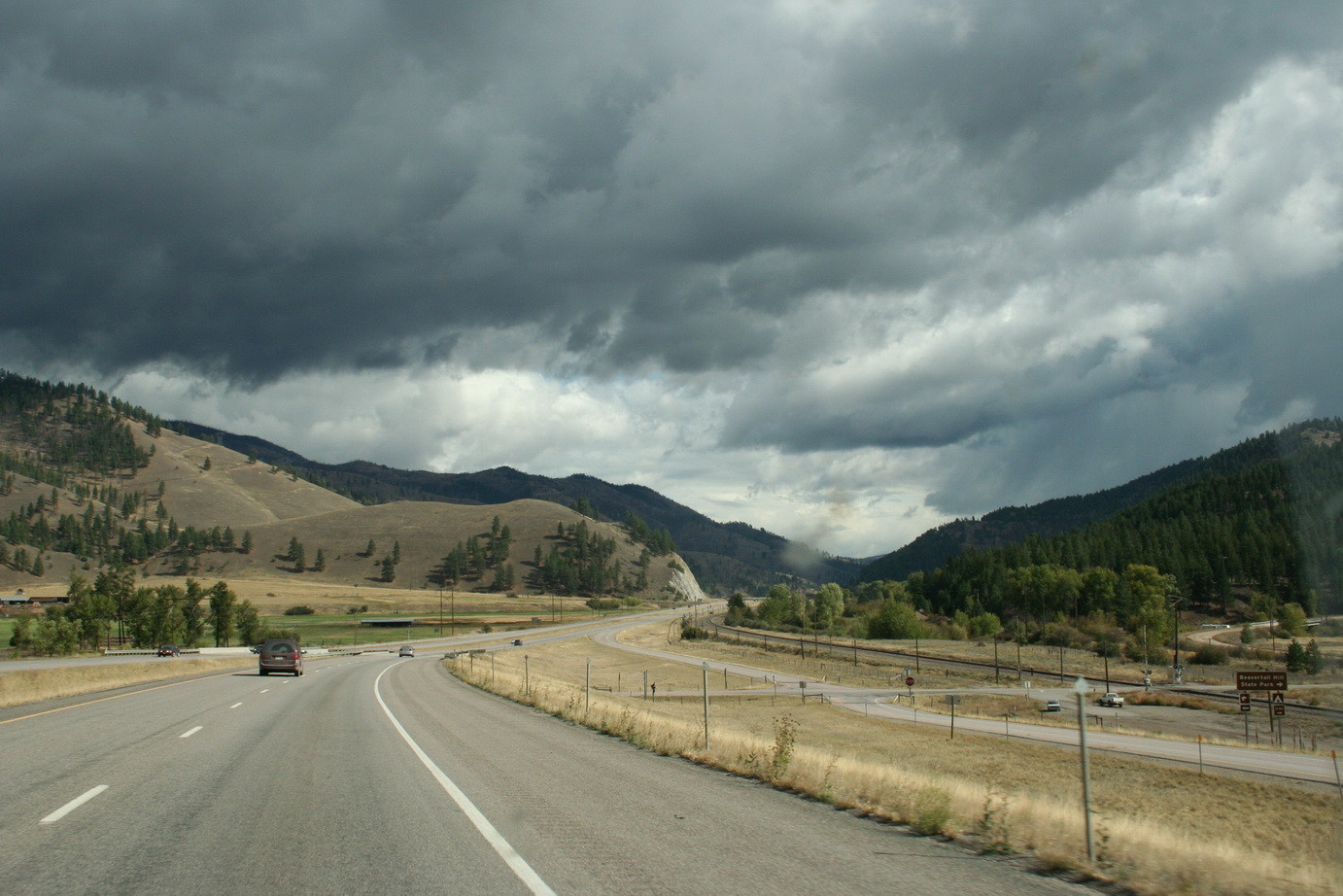 Highway in Montana (USA)