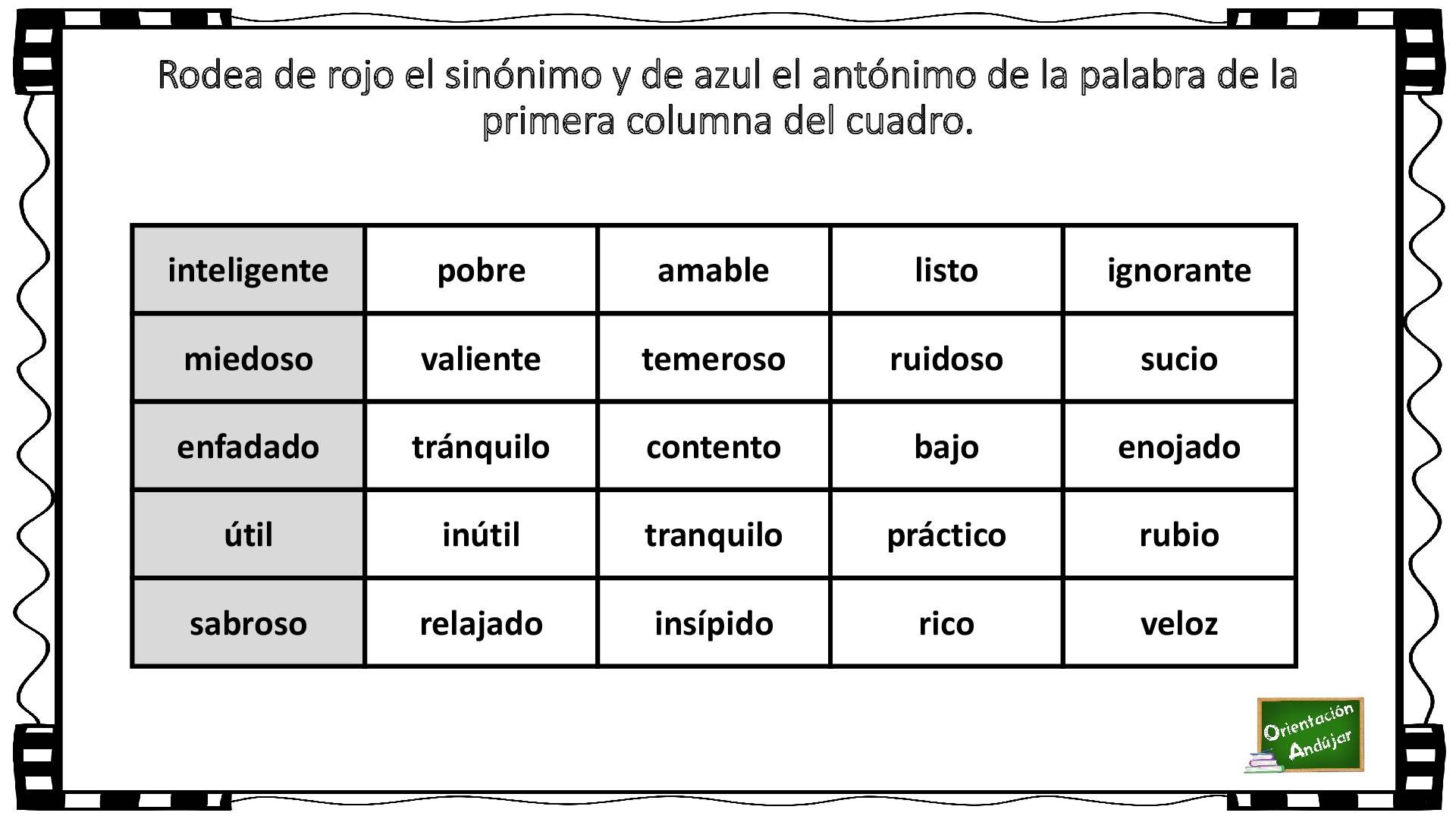 Sinónimos ejemplos 50