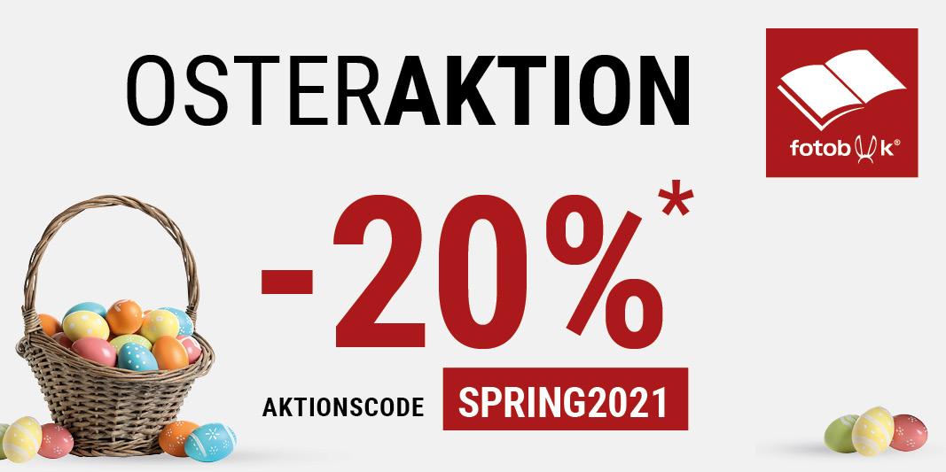 fotobook -20% Osteraktion auf Fotobücher, Wandbilder, Fotogeschenke usw.