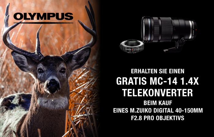 Olympus: gratis MC-14 Telekonverter erhalten!