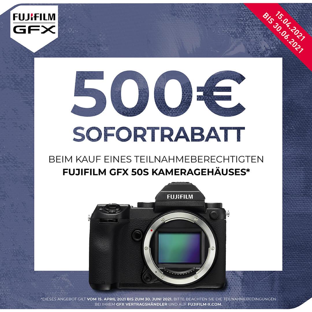 Fuji GFX 50s - 500€ Sofortrabattaktion verlängert!