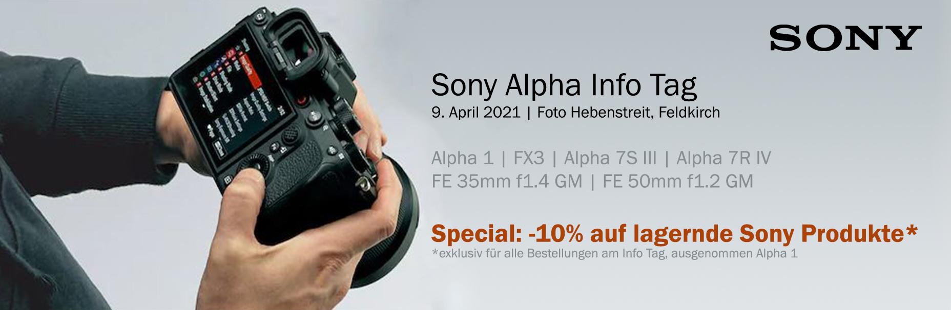 Sony Alpha Info Tag - sei dabei!