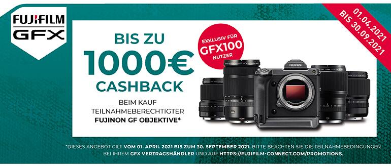 Fujifilm GF-Objektive Cashback Aktion - nur für GFX100 Besitzer