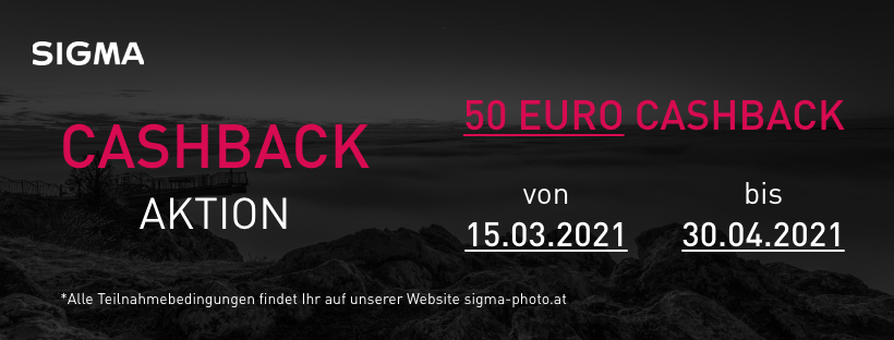 Sigma 50€ Cashback-Aktion
