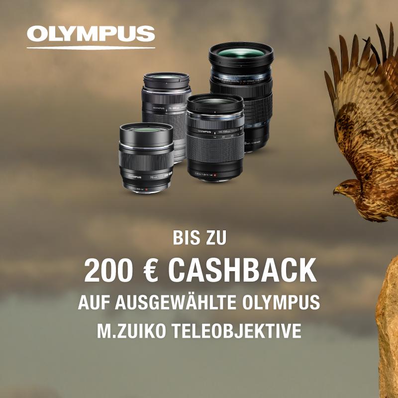 Olympus Teleobjektiv Cashback Aktion